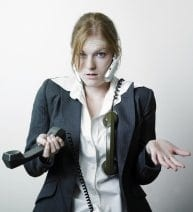 image of stressed woman